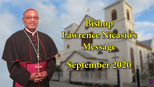 Bishop Lawrence Nicasio's September 2020 Message